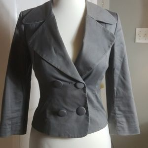 H & M double breasted 3/4 sleeve blazer